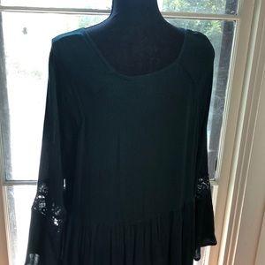 Dresses - Hunter Green Peasant Style Dress